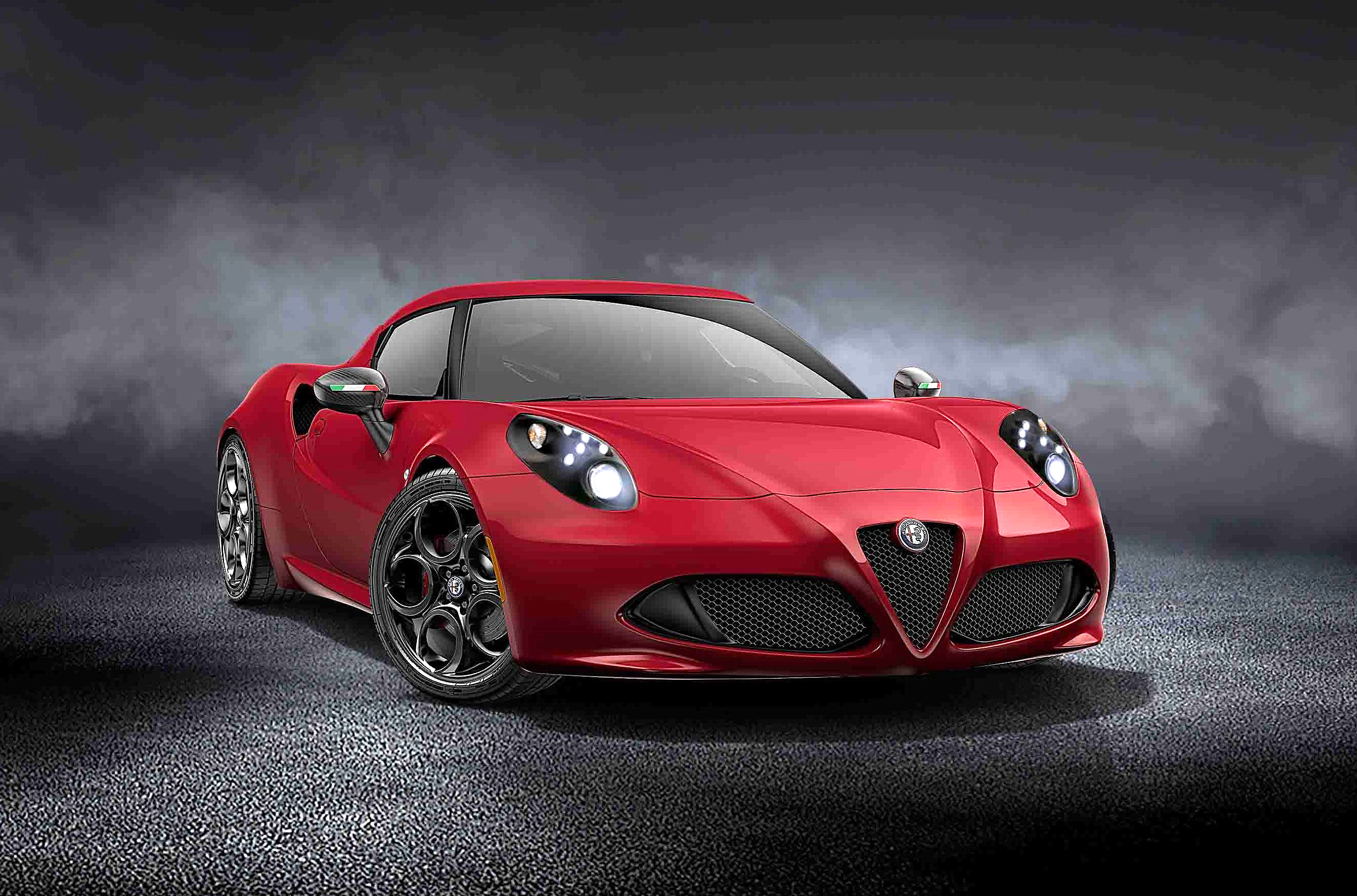 limited edition alfa romeo 4c coup rosso forte drivers. Black Bedroom Furniture Sets. Home Design Ideas