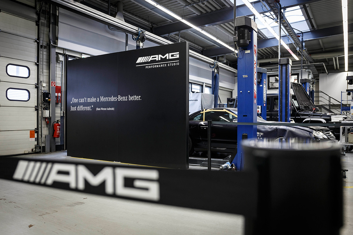 Hinter den kulissen mercedes amg in affalterbach for Mercedes benz plant salary