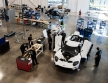 MARKHAM, Ontario, Canada, Dec. 16, 2016--The all-new Ford GT is entering the final phase of development and production has begun. One of the first Ford GTs is being driven off the line at the Multimatic assembly location with the first behind the scenes look at the assembly line for all-new Ford GT. The Ford GT is the culmination of years of Ford innovation in aerodynamics, lightweight carbon fiber construction and ultra-efficient EcoBoost engines. Photo by: Nick Busato