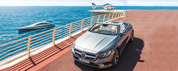 Mercedes-Benz Style Silver Arrow 460-Granturismo Eurocopter Airbus Helicopters A145 S-Klasse Cabriolet